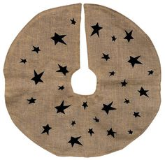 Primitive Burlap Tree Skirt. Love