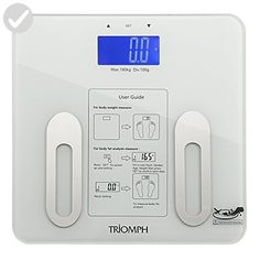 Triomph Digital BMI Body Fat Scale with Step-On Technology, 10 User Recognition, 400 lbs Capacity, White - Home smart home (*Amazon Partner-Link)