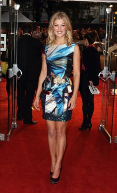 Pin for Later: From Bond Girl to Gone Girl: Rosamund Pike's Red Carpet Evolution Rosamund Pike For the premiere of Made in Dagenham in September 2010, Rosamund wore a graphic print Mary Katrantzou dress.