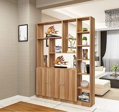 Beautiful Open Kitchens With Unique Partitions And Room Dividers 52 Living Room Kitchen Divider, Living Room Partition Design, Room Partition Designs, Living Room Decor, Partition Ideas, Kitchen Dining, Partition Walls, Dining Room, Room Divider Shelves