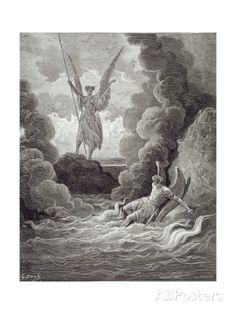 Satan and Beelzebub, from the First Book of 'Paradise Lost' by John Milton (1608-74) Engraved by… Giclee Print