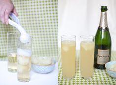 key lime sorbet cocktail