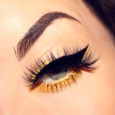 51 Amazing Eye Makeup Ideas Every Occasion - Make Up Ideas Makeup Eye Looks, Eye Makeup Art, Cute Makeup, Pretty Makeup, Eyeshadow Makeup, Hair Makeup, Eyeshadow Palette, Revlon Eyeshadow, Yellow Eye Makeup