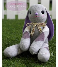 Free pattern: Lop-eared sock bunny softie