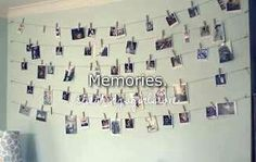 Hang pictures on your wall with clothes pins
