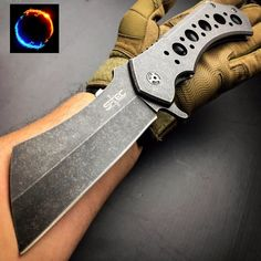 CSGO 12 FOLDING CLEAVER STONEWASHED TACTICAL Assisted Open Pocket Knife Limited Edition -- See the image link more details. (This is an affiliate link).