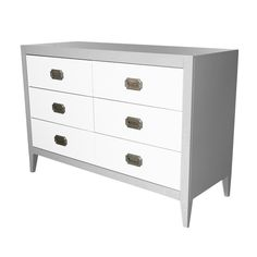 The Devon 6 Drawer Dresser would make the perfect changing table in this white and Project Nursery Gray! #PNshop