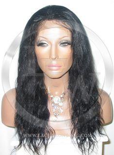 Bodywave Full Lace Wig 16 Inch Jet Black