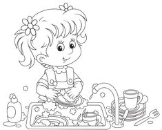 View album on Yandex. Coloring Pages Winter, Cute Coloring Pages, Coloring Books, Adult Coloring, Boy Or Girl, Crafts For Kids, Clip Art, Album, Cartoon