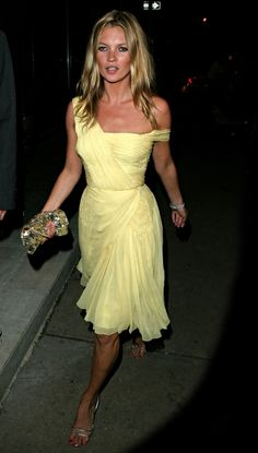 Pretty but cool: a vintage lemon number in 2003. Photograph: James Devaney/WireImage