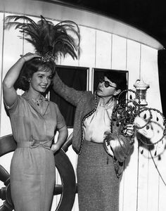 Debbie Reynolds and Edith Head