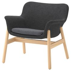 IKEA - VEDBO, Armchair, Gunnared dark gray, The timeless design of VEDBO makes it easy to place in various room settings and coordinate with other furniture. Read about the terms in the limited warranty brochure. Chaise Ikea, Ikea Armchair, Blue Armchair, Recliner Chairs, Ikea Recliner, Swivel Chair, Chair Cushions, Small Chair For Bedroom, Lights