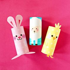 Easter Toilet Paper Roll Crafts Chick Bunny And Sheep Paper Tube Easter Craft With Free Printables Toilet Roll Craft, Toilet Paper Roll Crafts, Paper Crafts For Kids, Kids Toilet, Bunny Crafts, Easter Crafts, Spring Crafts, Holiday Crafts, Easter Art
