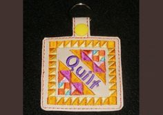 Grand Sewing Embroidery Designs At Home Ideas. Beauteous Finished Sewing Embroidery Designs At Home Ideas. Best Embroidery Machine, Machine Embroidery Projects, Free Machine Embroidery Designs, Border Embroidery, Hand Embroidery, Embroidery Ideas, Learning To Embroider, Key Fobs, Embroidery Techniques