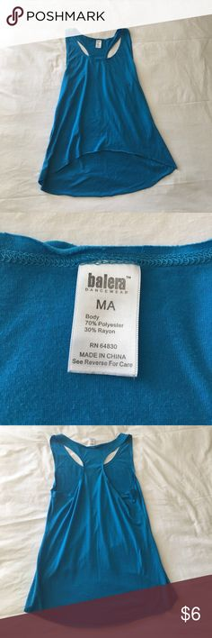 Balera Dancewear Racerback Tank This Balera Dancewear blue racerback tank is super soft and great for dance, working out, but also is cute for just an everyday top. Size M(adult). Gently used. Balera Dancewear Tops Tank Tops