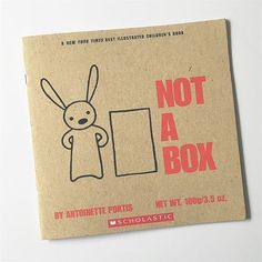 One of our favorite books that inspire kids to be creative. ✨ I love giving this book as a gift together with a big cardboard box! 📦 #notabox #antoinetteportis