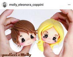 caras/ cabezas niños  hechos por Molly Coppinni