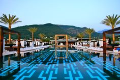 Swimming Pool at Purobeach, Porto Montenegro Amazing Swimming Pools, Hotel Swimming Pool, Cool Pools, Awesome Pools, Find Hotels, Best Hotels, Tivat Montenegro, Mauritius Honeymoon, Piscina Do Hotel