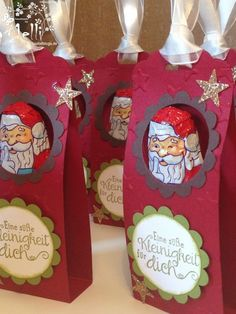 21 super ideas for diy box crafts gift stampin up Christmas Paper Crafts, Stampin Up Christmas, Christmas Bags, Christmas Treats, Christmas Time, Xmas, Chocolate Navidad, Chocolate Santa, Chocolate Box
