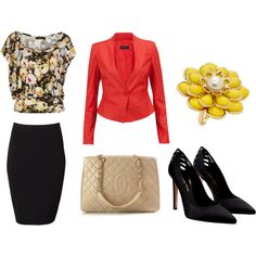 a nice little outfit for the office. fashion-forward and yet still appropriate and professional.
