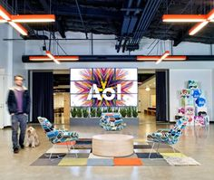 AOL's new offices, Studio O + A, in Palo Alto. A lot of cool concepts used.