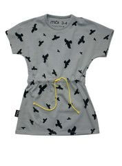Bird Print Playdress Grey