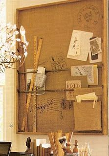Recreate PB burlap corkboard.