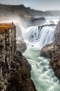 Godafoss, Iceland [AN:Waterfall] Beautiful Waterfalls, Beautiful Landscapes, Places To Travel, Places To See, Travel Destinations, Wonderful Places, Beautiful Places, Beautiful Pictures, Iceland Adventures