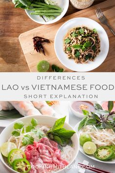 Vietnamese food vs Lao Food - Learn the differences between these two asian cuisines. #asianfood #laofood #vietnamesefood