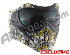 V-Force Grill Paintball Mask - Nightmare Gold Golf Tiger Woods, V Force, Golf Ball, Bowling Ball, Paintball Gear, Frat Coolers, Most Popular Sports, Golf Humor, Body Armor