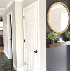 Just because you don't have a grand foyer or entryway doesn't mean you can't create a charming nook to greet your guests upon arrival. Decor, Hallway Decorating, Small Entryways, Foyer Decorating, House Styles, New Homes, Home Decor, Stylish Bedroom Design, Dressing Room Design