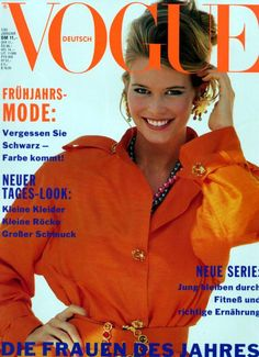 Claudia Schiffer for Vogue Germany, 1991.