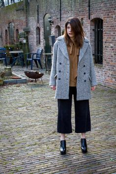 Click to see this outfit featuring jean culottes   Fashion and Style