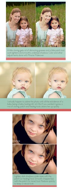 Photoshop Actions Cloning Healing Patch Tools Blemishes Undereye Eye