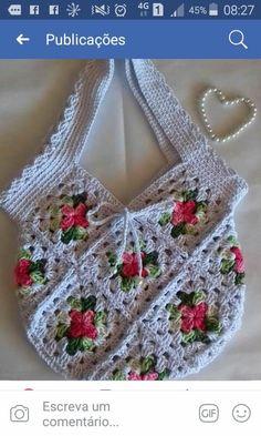 Crochet Tote, Crochet Handbags, Chrochet, Doll Furniture, Crochet Necklace, Projects To Try, Crochet Patterns, Knitting, Hello Kitty Purse