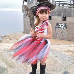 Girls Perform costumes cute and funny little girls dressed as pirates of Halloween tutu Dress Up children's Clothing Summer 2017 Halloween Costumes For Girls, Halloween Dress, Girl Costumes, Girl Halloween, Pirate Costumes, Princess Costumes, Baby Tutu Dresses, Little Girl Dresses, Girls Dresses