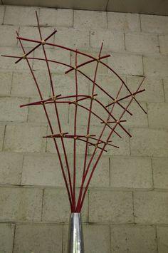 Support pour composition florale contemporaine