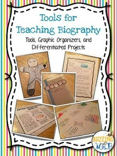 Everything you need for a complete unit! Great for Black History Month or studying historical figures in social studies, too! This product includes graphic organizers, biography bookmarks, and materials for five fun projects to learn about biography.