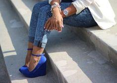Blue Wedges<3