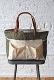 WWII era Canvas & Work Apron Tote Bag