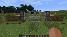 Minecraft - sliding glass doors that really work.