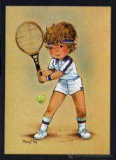 Niño tenista 2- Ilus. Mary May