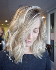 Blonde balayage bob. More