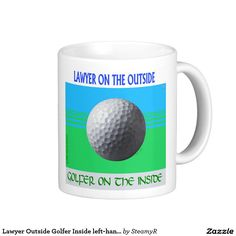 Lawyer Outside Golfer Inside left-hand mug