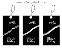 BLACK FRIDAY - În perioada 24 nov 2014 - 30 nov 2014 www.efengshui.ro vă oferă următoarele reduceri: - 10% pentru orice comandă de peste 101 lei - 20% pentru orice comandă de peste 251 lei - 50% pentru fiecare al doilea obiect cu prețul cel mai scăzut pentru orice comandă de peste 501 lei. Toate produsele dorite pot fi comandate și telefonic la nr. de tel. 0720111068 sau scriind pe adresele de mail: irina.bejenaru@gmail.com sau comenzi@efengshui.ro.