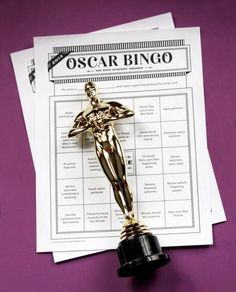 Oscar Bingo Game - play with family while watching The Academy Awards