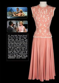 Dress Grace wore in the picnic scene in To Catch a Thief. It is on display in Grace exhibit,McCord Museum of Montreal, until Oct 6/13