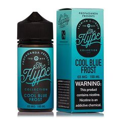 The Hype Collection Cool Blue Frost by Propaganda is blue slushie, blue raspberry and manthol flavored Ejuice. Try it today here at West Coast Vape Supply!