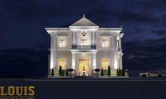 Thiết kế biệt thự cổ điển 2 tầng nguy nga và đẳng cấp tại Tây Ninh House Arch Design, Main Door Design, Stone Houses, Exterior, Mansions, Architecture, Luxury, House Styles, Classic
