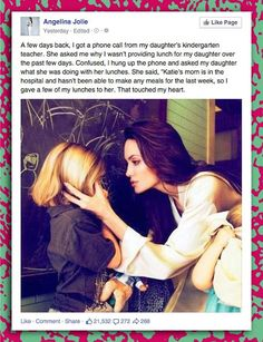 If this is true, she's raising her child beautifully.  What a pure heart that little girl has.